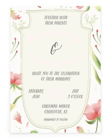 Floral Surroundings Rectangle Invitations