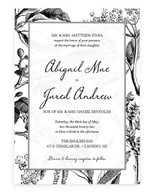 Delicate Impression Rectangle Invitations