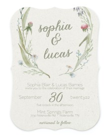 Delightful Blooms Bracket Invitations