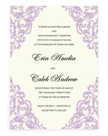 Gilded Grace Rectangle Invitations