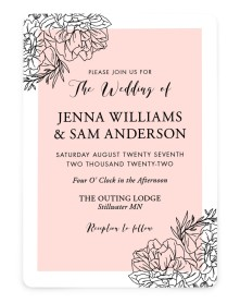 Love's Whisper Rounded Invitations