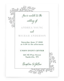 Etched Elegance Rectangle Invitations
