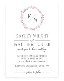 Enchanting Crown Rectangle Invitations