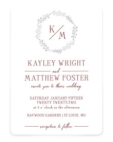 Enchanting Crown Rounded Invitations
