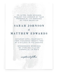 Tranquil Twinkle Rectangle Invitations