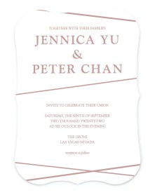 Gilded Affair Bracket Invitations