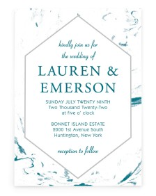 Elegant Marble Rectangle Invitations