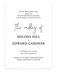 Sensibly Simple Rectangle Invitations