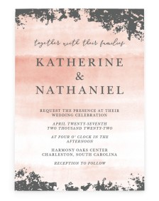 Chic Patina Rectangle Invitations