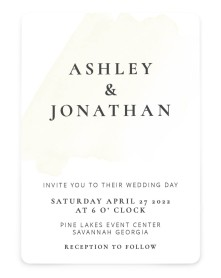 Stroke of Luck Rounded Invitations