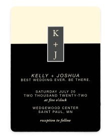 Best Wedding Ever Rounded Invitations