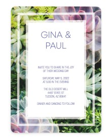 Sophisticated Succulents Rounded Invitations