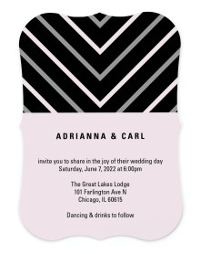 Posh Chevron Bracket Invitations