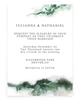 Ethereal Pool Rectangle Invitations
