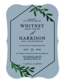 Wispy Greenery Bracket Invitations