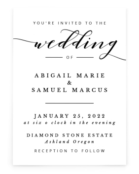 Timeless Eloquence Rectangle Invitations