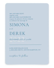 Rustic Grace Rounded Invitations
