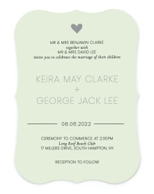 Heavenly Hearts Bracket Invitations