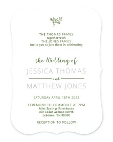 Cool Blooms Bracket Invitations