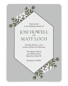 Floral Bliss Rounded Invitations