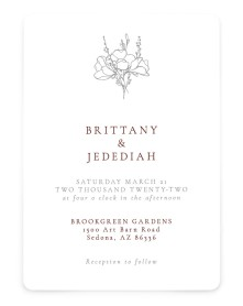 Poetic Bloom Rounded Invitations