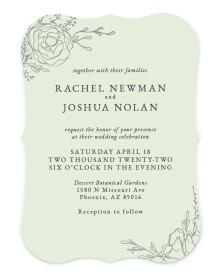 Blooming Rose Bracket Invitations