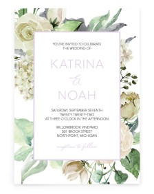 Divine Romance Rectangle Invitations