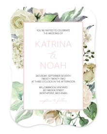 Divine Romance Bracket Invitations