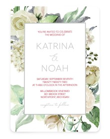 Divine Romance Rounded Invitations