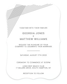 Dashing Strands Bracket Invitations