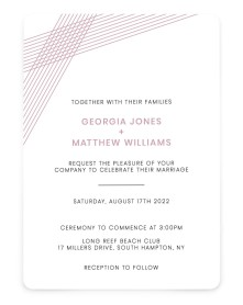 Dashing Strands Rounded Invitations