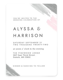 Ethereal Swaths Rounded Invitations
