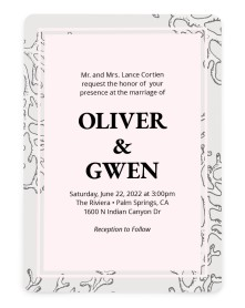 Maritime Bliss Rounded Invitations