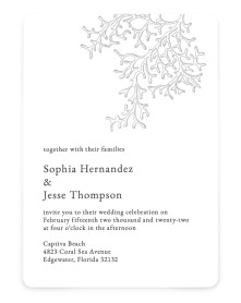 Tropical Heaven Rounded Invitations