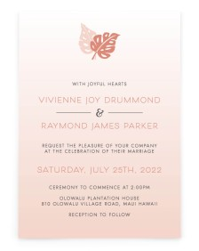 Tropical Palms Rectangle Invitations