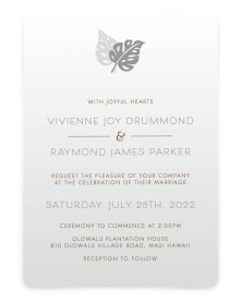 Tropical Palms Rounded Invitations