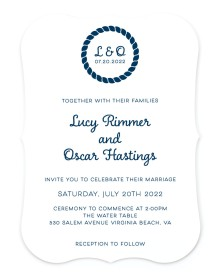 Nautical Stripes Bracket Invitations