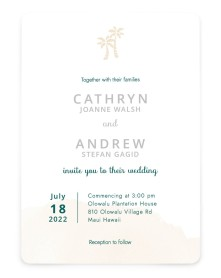 Stamped Palms Rounded Invitations