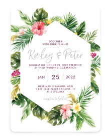 Perfect Paradise Rounded Invitations