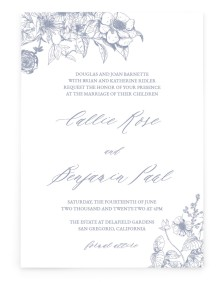 Gentle Bouquet Rectangle Invitations