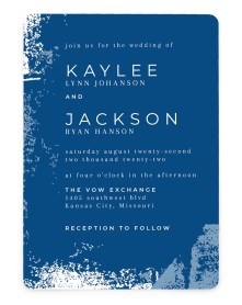 Set in Stone Rounded Invitations