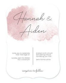 Watercolor Rapture Bracket Invitations
