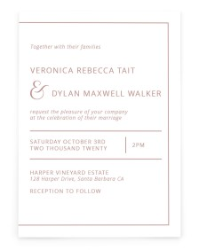 Neat Arrangement Rectangle Invitations