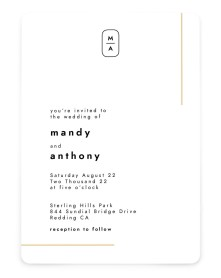 The Proposal Rounded Invitations