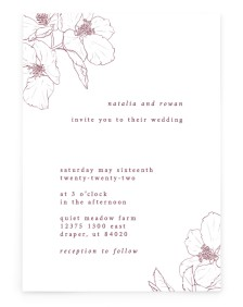 Hibiscus Hideaway Rectangle Invitations