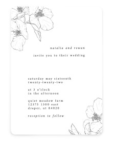 Hibiscus Hideaway Rounded Invitations