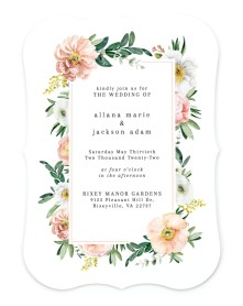 Delicate Florals Bracket Invitations