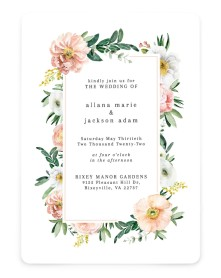 Delicate Florals Rounded Invitations