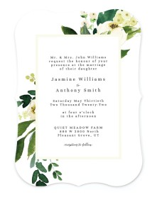 Wedding Florals Bracket Invitations