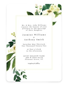 Wedding Florals Rounded Invitations